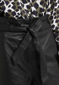 Bruuns Bazaar - PECAN ARISTA PANT - Leather trousers - black - 4