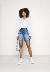 ONLY - ONLPAOLA LIFE - Denim shorts - blue denim - 1