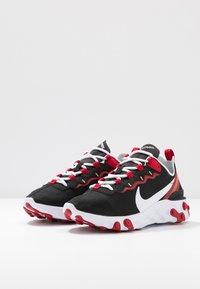 Nike Sportswear - REACT 55 - Sneaker low - black/white/gym red/metallic gold - 4