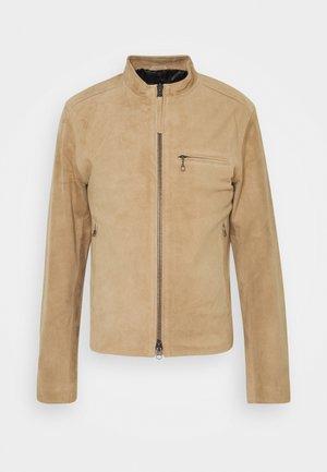 DAMIR - Leather jacket - beige