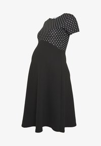 MATERNITY SPOT DRESS - Žerzejové šaty - black