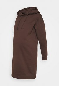VMMOCTAVIA HOODIE DRESS - Day dress - chocolate brown