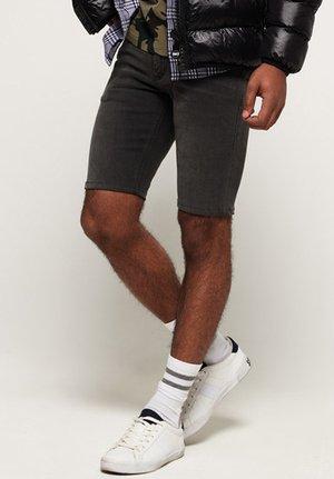 Denim shorts - dust pipe black