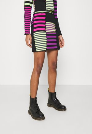 DAMAGE SKIRT - Mini skirt - multi-coloured