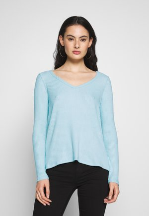 PLUSH SOLID - Long sleeved top - light blue