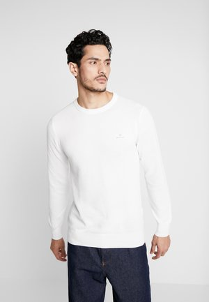 C NECK - Jumper - eggshell