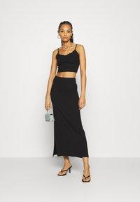 Even&Odd - BASIC - Maxi skirt - Maxi skirt - black - 1