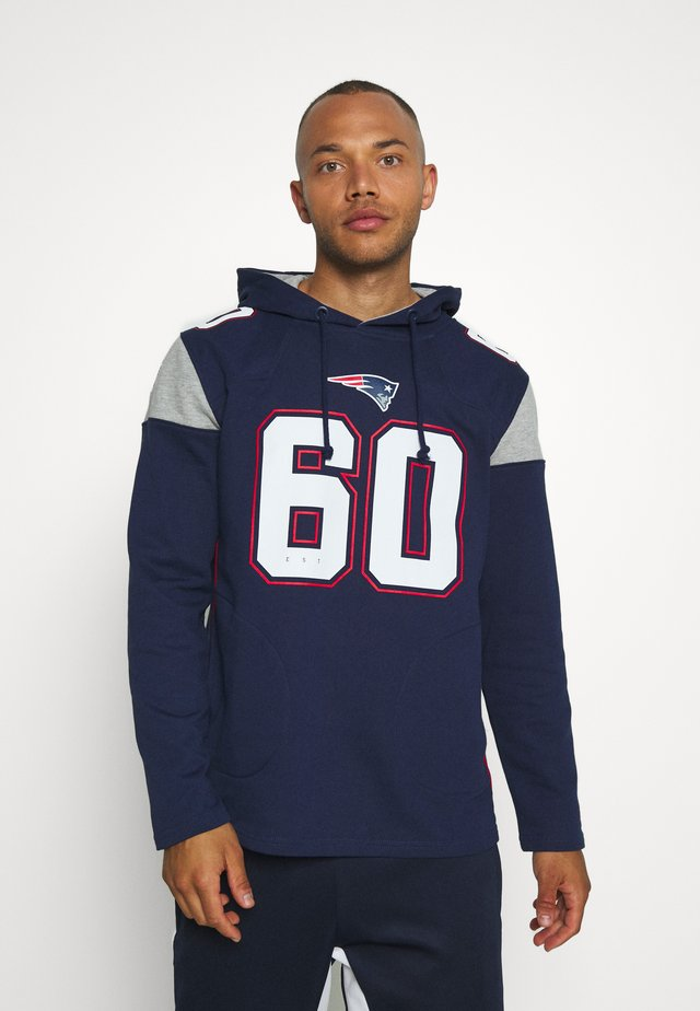 NFL NEW ENGLAND PATRIOTS ICONIC FRANCHISE OVERHEAD HOODIE - Club wear - navy