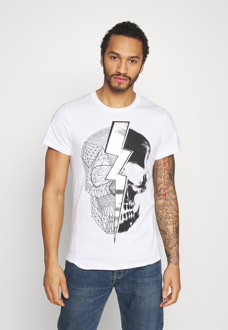 Religion - LIGHTNING SKULL TEE - T-shirt imprimé - white