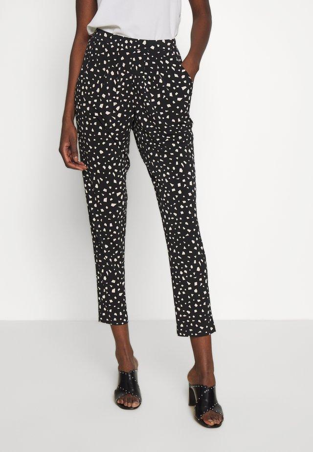 MONO TROUSER - Trousers - black/white