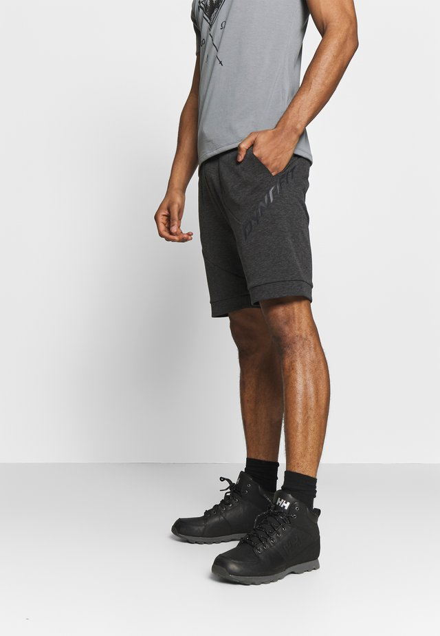 24/7 TRACK - Sports shorts - black out melange