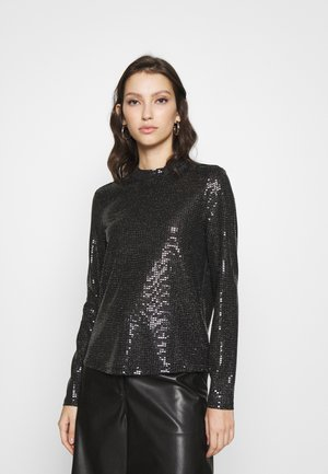 VMKYLIE HIGHNECK - Long sleeved top - black/black