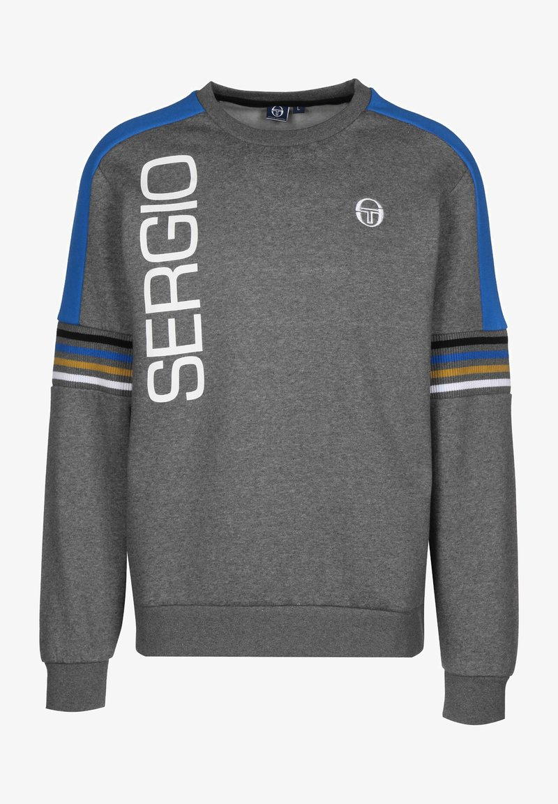 sergio tacchini - DANIEL  - Sweatshirt - dark grey melange/white