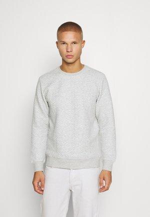 JJQUILT CREW NECK - Sweatshirt - light grey melange