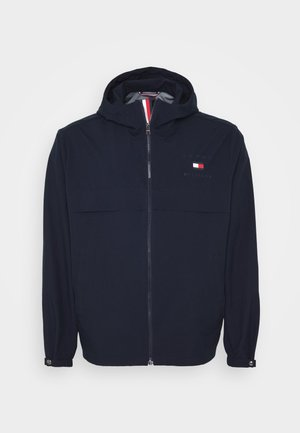 HOODED JACKET - Giacca leggera - blue