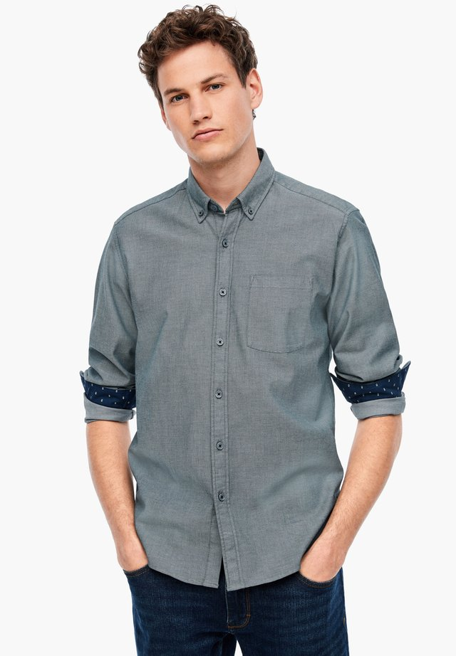 Shirt - dark blue aop
