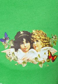 Fiorucci - WOODLAND VINTAGE ANGELS PATCH FOREST - Tracksuit bottoms - green - 5