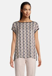 Betty Barclay - MIT PRINT - Blouse - dark blue/rosé - 0