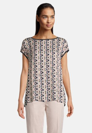 MIT PRINT - Blouse - dark blue/rosé