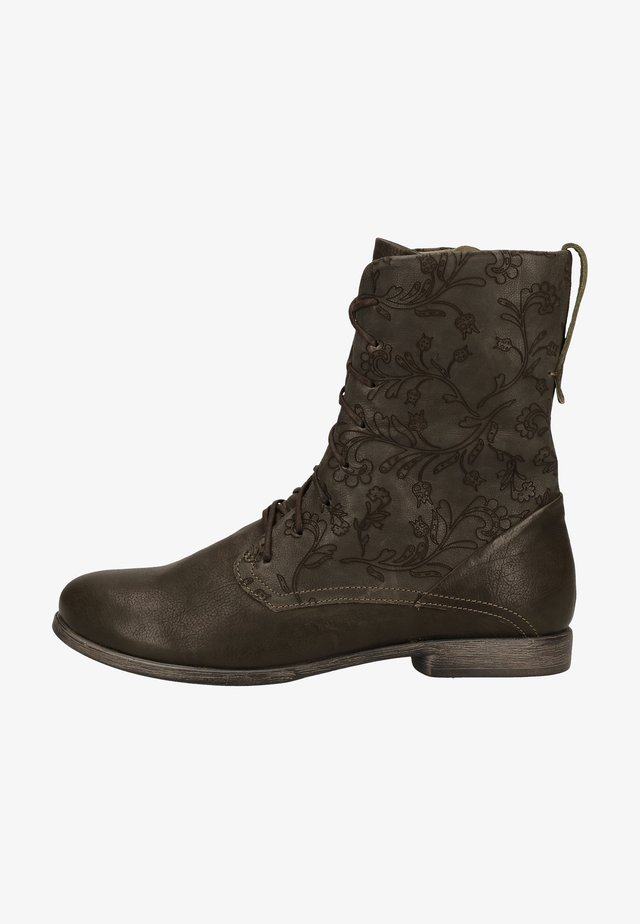 Lace-up ankle boots - grunge