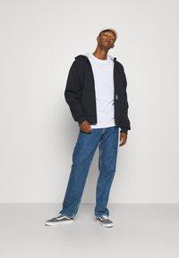 Carhartt WIP - CAR LUX HOODED JACKET - Sweater met rits - dark navy/grey - 1