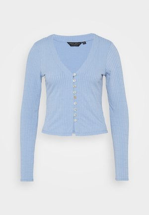 BUTTON THROUGH CARDIGAN - Cardigan - blue