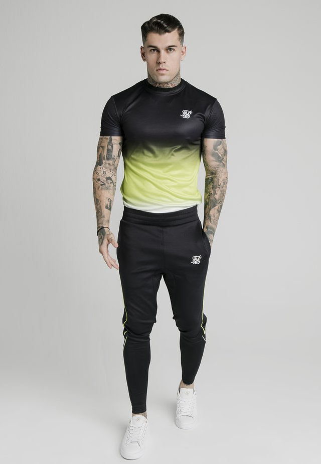 Camiseta estampada - black fluro  white