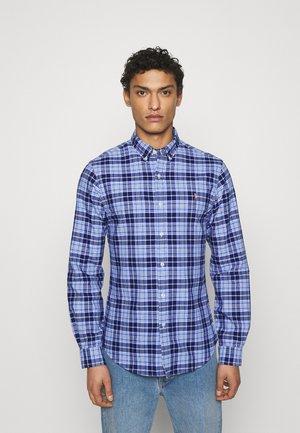 SLIM FIT PLAID OXFORD SHIRT - Shirt - blue/navy multi