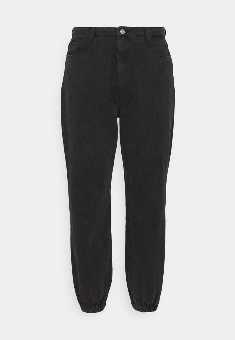 Missguided Plus - RIOT HIGHWAISTED MOM - Relaxed fit jeans - black