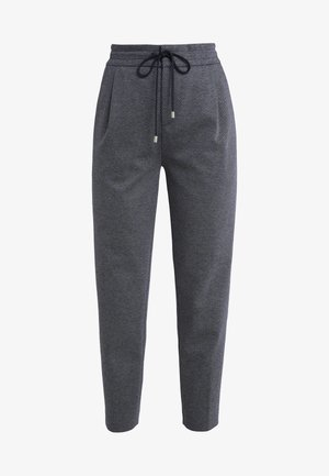 LEVEL - Trousers - navy/white