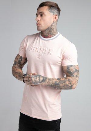 RIB COLLAR GYM TEE - T-shirt med print - pastel pink