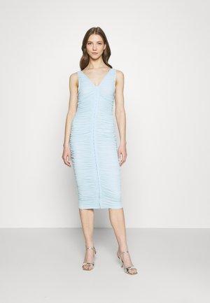 HOOK AND EYE RUCHED MIDI DRESS - Day dress - blue