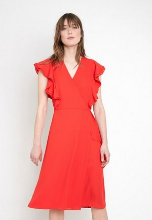 Korte jurk - corail