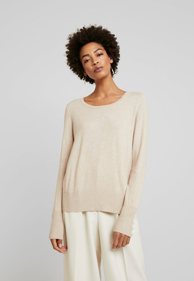 CUANNEMARIE PEARL ONECK - Pullover - warm sand melange