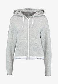 MODERN LOUNGE FULL ZIP HOODIE - Pyjama top - grey