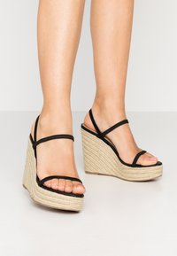 Steve Madden - SKYLIGHT - Sandály na vysokém podpatku - black - 0