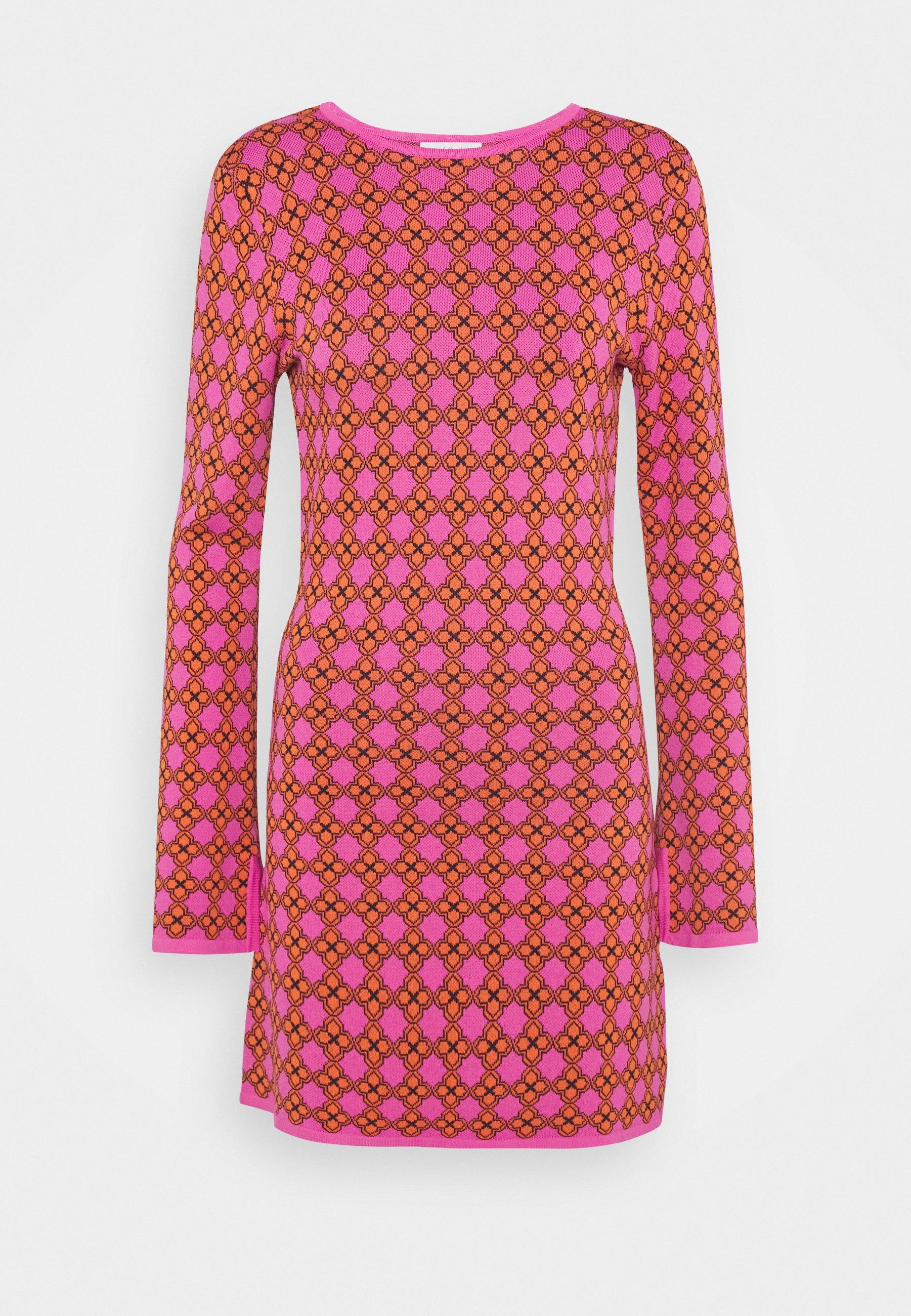 Femme MOSAIC TILE SWING DRESS - Robe pull