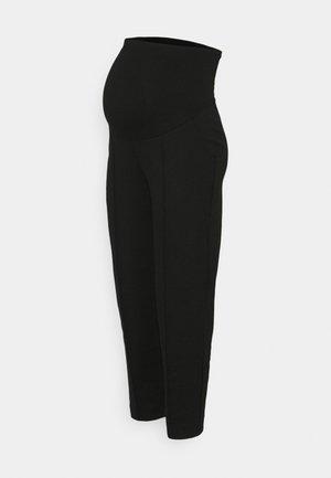 CROPPED SLACKS - Pantalones - black