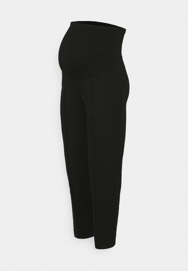CROPPED SLACKS - Tygbyxor - black