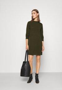 FTC Cashmere - DRESS - Jumper dress - bronze green - 1