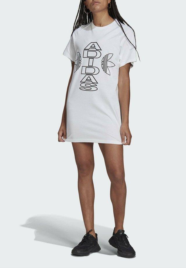 Sukienka z dżerseju - white