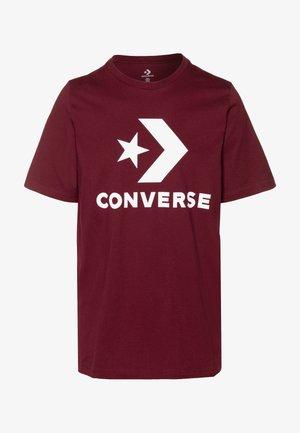 STAR CHEVRON TEE - Print T-shirt - dark burgundy
