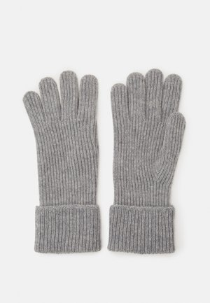 100% Cashmere Gloves  - Fingervantar - silver