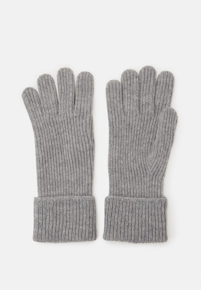 100% Cashmere Gloves  - Gloves - silver