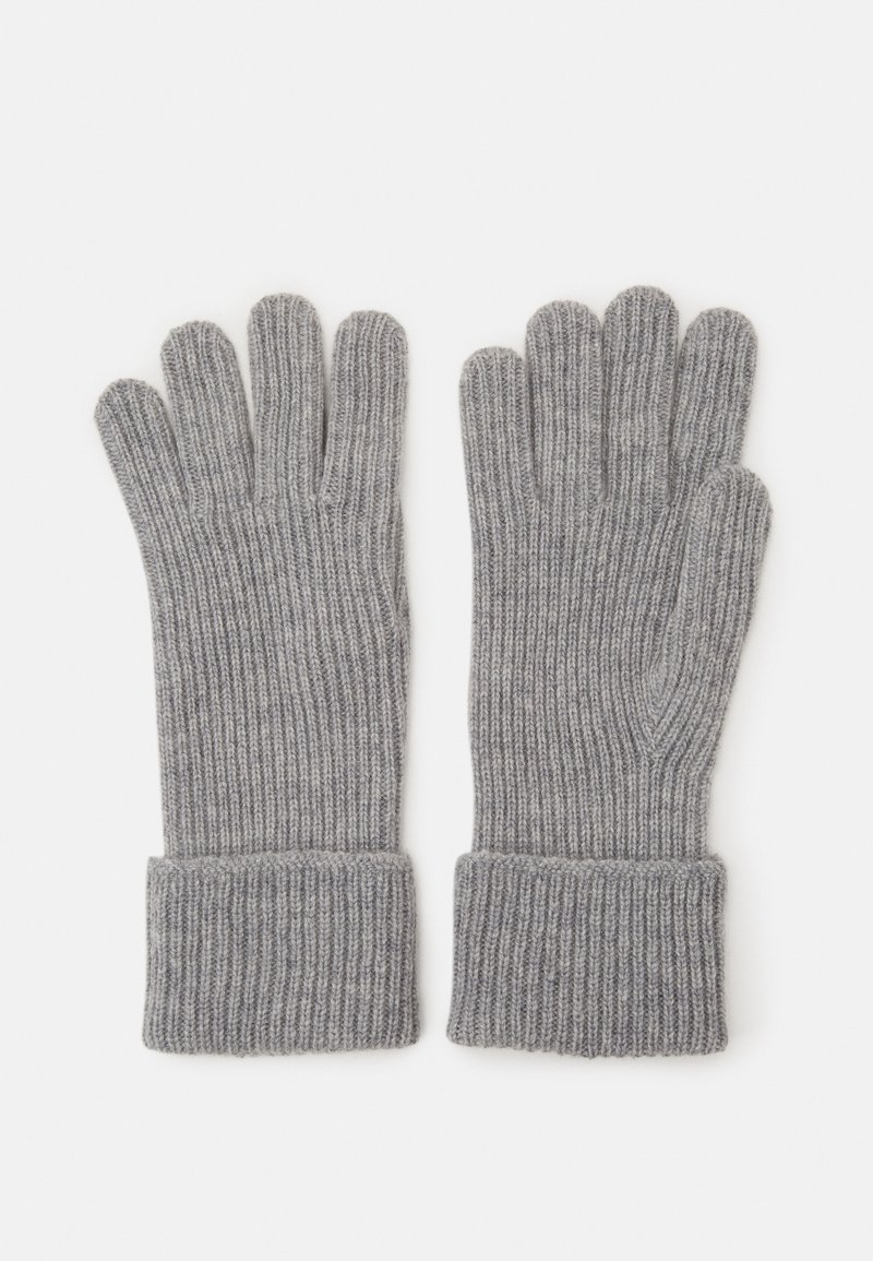 Johnstons of Elgin - 100% Cashmere Gloves  - Gloves - silver