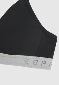 Esprit - SPORTY LOGO TAPE YG MOULDED BRA - T-shirt bra - black - 2