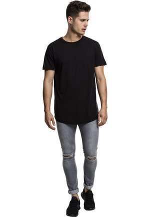 SHAPED LONG TEE DO NOT USE - Basic T-shirt - black
