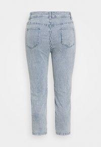 Simply Be - STRIPE CROP SLIM  - Jeans slim fit - blue - 1