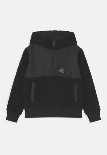ZIP UP HOODIE - Fleece jumper - black