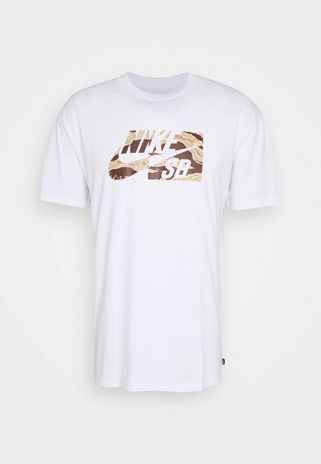 TEE CAMO UNISEX - T-shirt imprimé - white